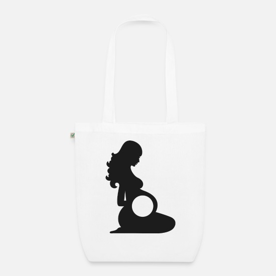 Silhouette Bags & Backpacks - Pregnant silhouette - Organic Tote Bag white