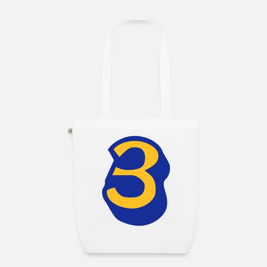 Most Loved Cool Numbers Vector Design For Favorite Number Clothes Cool Gym T Shirts Bags & Backpacks - ★Cool Number Three 3-Best Jersey Uniform Number★ - Organic Tote Bag white