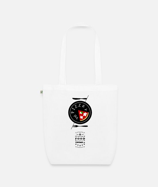 Pizza Bags & Backpacks - Cucina Italiana 02. Pizza - Organic Tote Bag white