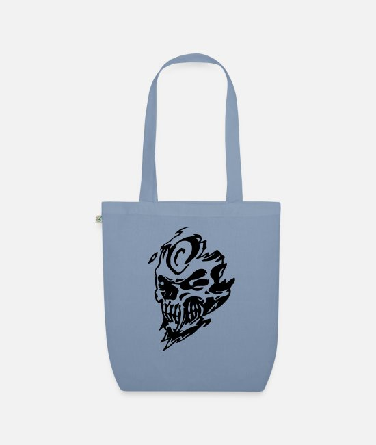 Skull And Crossbones Bags & Backpacks - skull1 - Organic Tote Bag steel blue