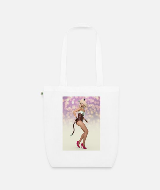 Attractive Bags & Backpacks - New burlesque, sexy woman - Organic Tote Bag white