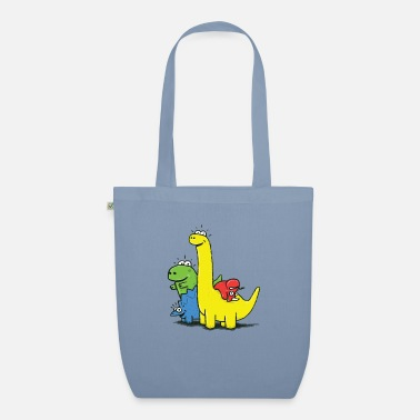 Dino Gang, Colored - Bolsa de tela orgánica