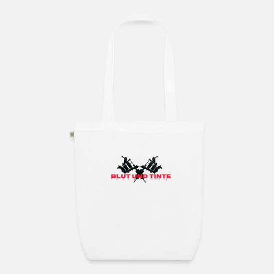 Birthday Bags & Backpacks - Blood and ink, color in the skin! - Organic Tote Bag white