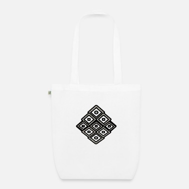 Rectangle Black square - Organic Tote Bag