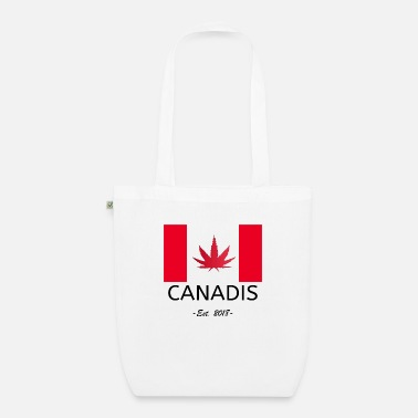 420 2018 Canadis Canada Flag Legalization Cannabis 2018 - Organic Tote Bag