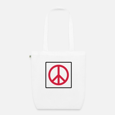 Quadrat Frieden im Quadrat / peace in square (2c) - Organic Tote Bag