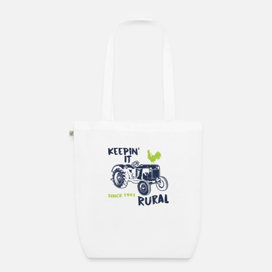 Country Bags & Backpacks - Agriculture sayings - Organic Tote Bag white