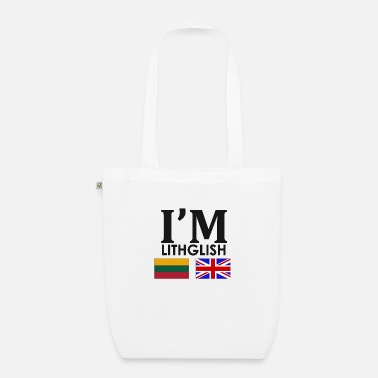 Lithuanian Lithuanian + English = - Organic Tote Bag