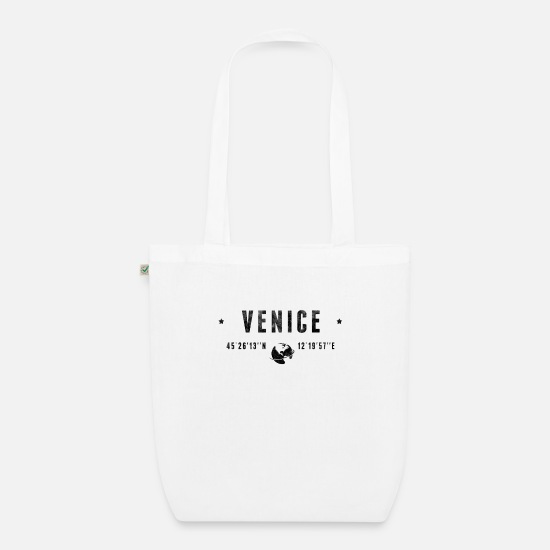 Typography Bags & Backpacks - Venice - Organic Tote Bag white