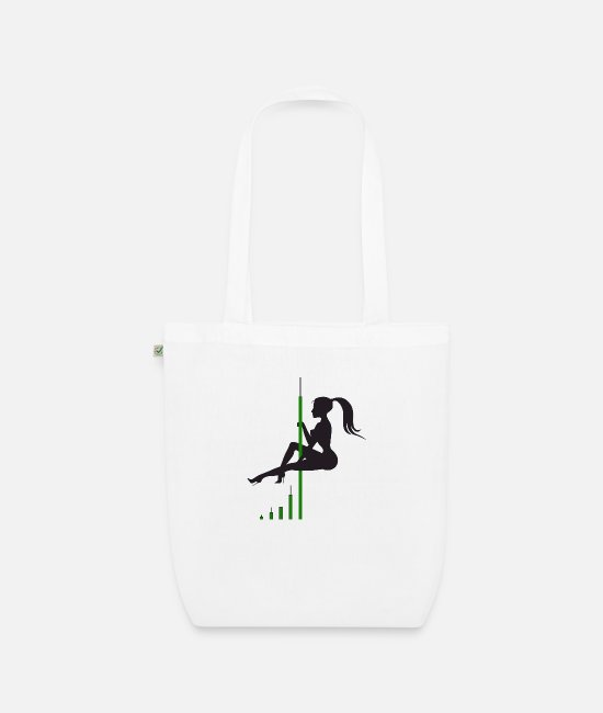 Btc Bags & Backpacks - Bitcoin Candle Dance - Organic Tote Bag white