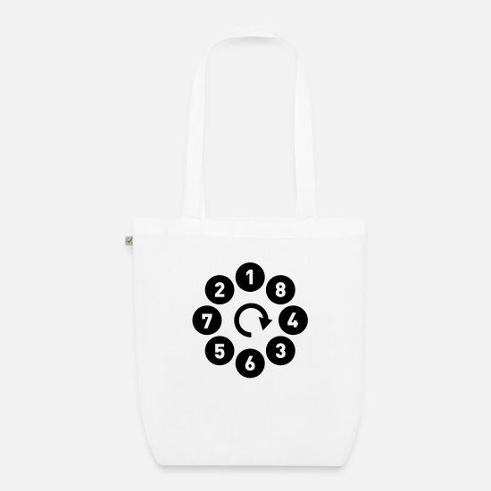 Motor Bags & Backpacks - V8 firing - Autonaut.com - Organic Tote Bag white