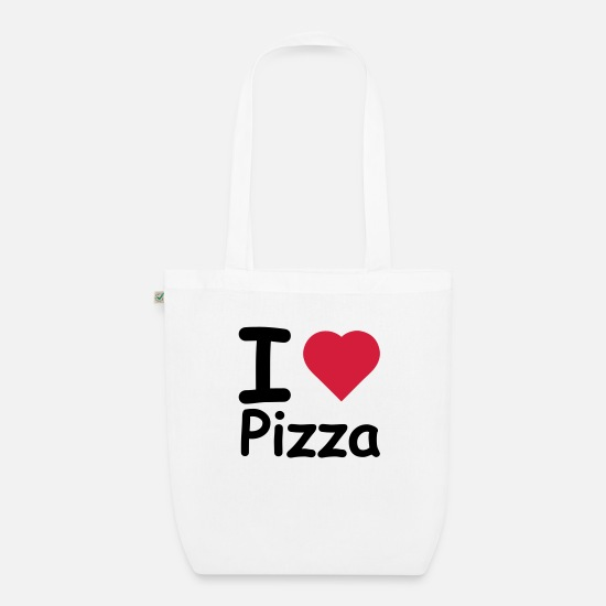 Grin Cheeseburger Help Smile Baked Home Land Crime Bags & Backpacks - cool food funny pizza - Organic Tote Bag white