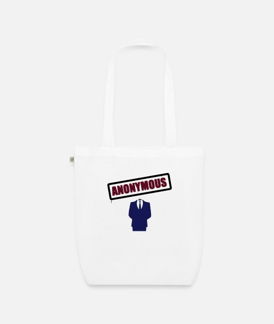 I Love Bags & Backpacks - Anonymous - Organic Tote Bag white