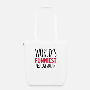 Theology worlds funniest theology student - Organic Tote Bag