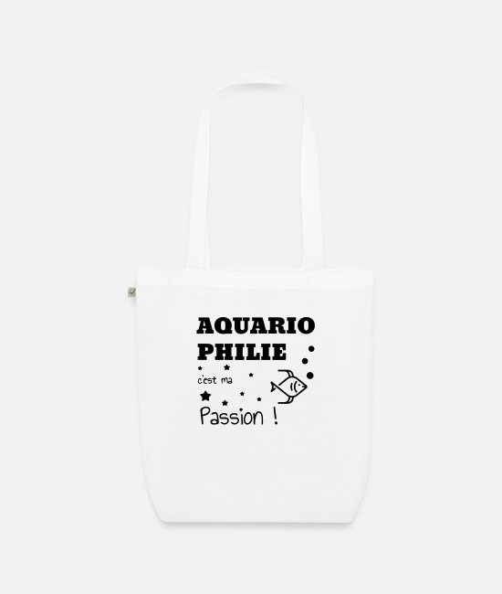 Nature Bags & Backpacks - Fishkeeping Fish Aquaristik Aquarium Aquariophilie - Organic Tote Bag white