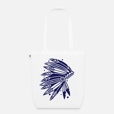 Headdress Chieftain's Headdress - Organic Tote Bag