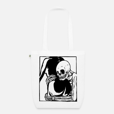 Erotica Fld.) Skeleton Butt Hug | Woodcut foundfootage - Organic Tote Bag