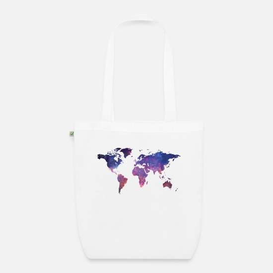 Earth Bags & Backpacks - World at night - Organic Tote Bag white