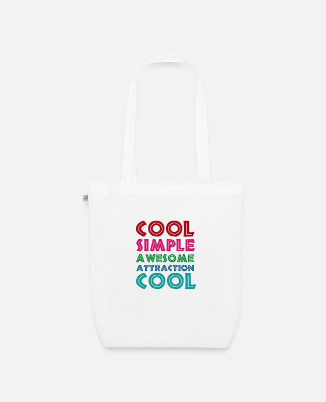 Quote Bags & Backpacks - cute - Organic Tote Bag white