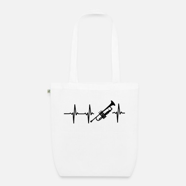 Evolution &amp MY HEART BEATS FOR THE TRUMPET! - Organic Tote Bag