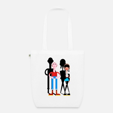 Girl Skinhead Couple - Organic Tote Bag