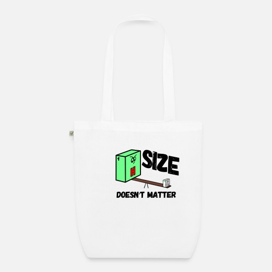 Chemistry Bags & Backpacks - Size doesnt matter periodic table - Organic Tote Bag white