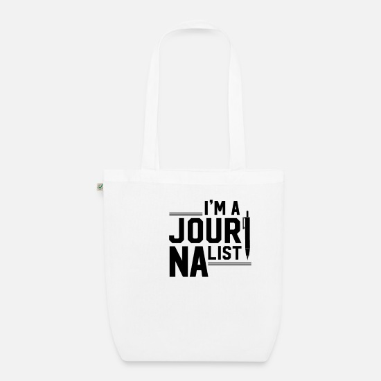 Newspaper Bags & Backpacks - Journalist journalist journalist journalist - Organic Tote Bag white