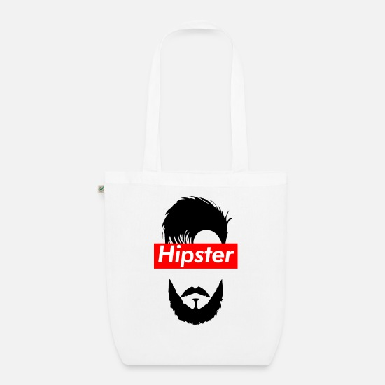 Modern Bags & Backpacks - hipster - Organic Tote Bag white