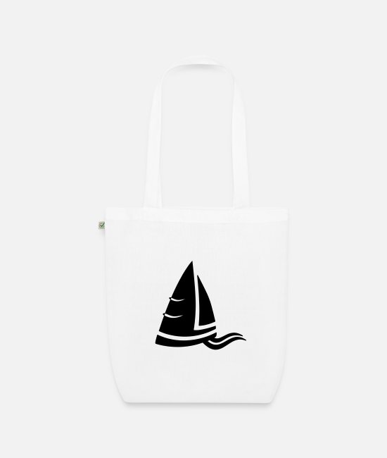 Water Bags & Backpacks - SeeAir sailboat logo black - Organic Tote Bag white