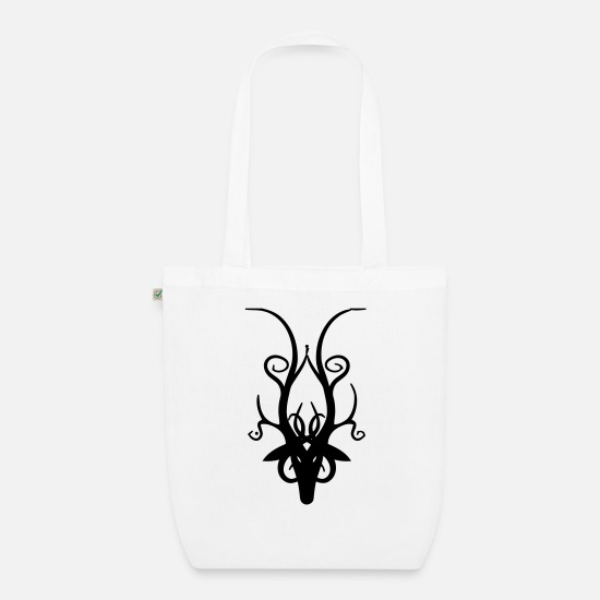 Stag Bags & Backpacks - Stag Head - Organic Tote Bag white