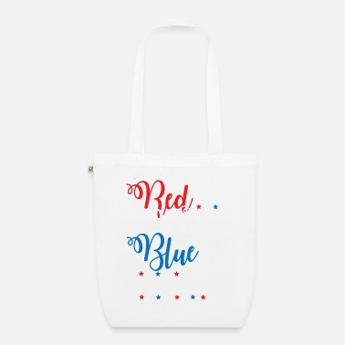 Beer Red White Blue Beer Funny Fourth of July Apparel - Organic Tote Bag