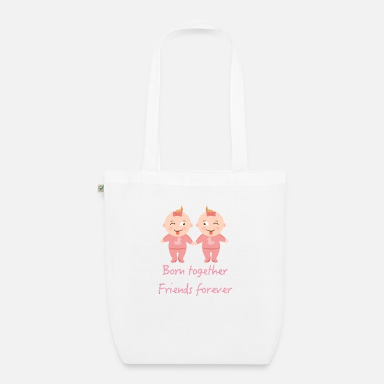Twins Bags & Backpacks - Twins, twin sisters, twin sisters - Organic Tote Bag white
