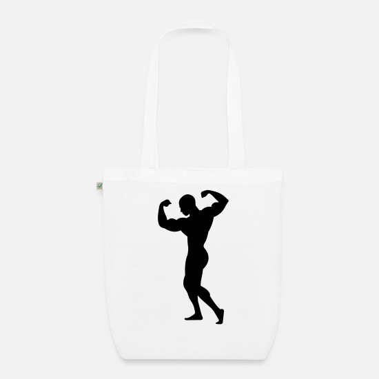 Adonis Bags & Backpacks - Adonis - A strong man - Organic Tote Bag white