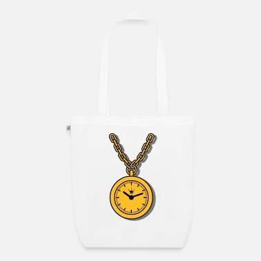 clock, chain - Organic Tote Bag