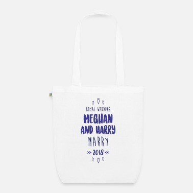 HT Royal Wedding Marry 2018 blue - Organic Tote Bag