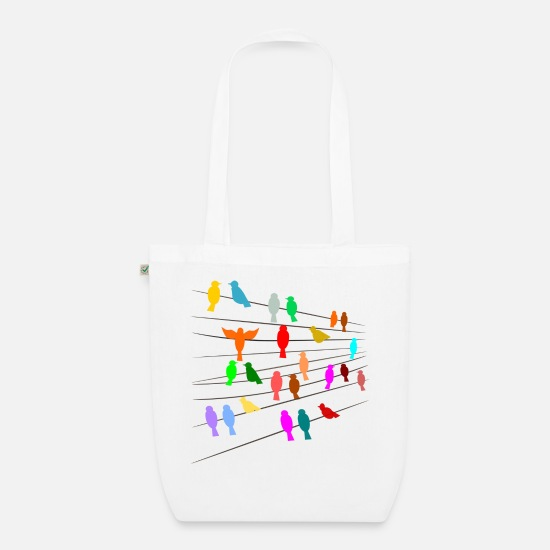 Birds Bags & Backpacks - birds - Organic Tote Bag white