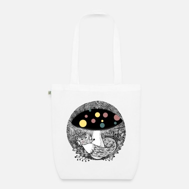 Fox illustration children colorful - Organic Tote Bag
