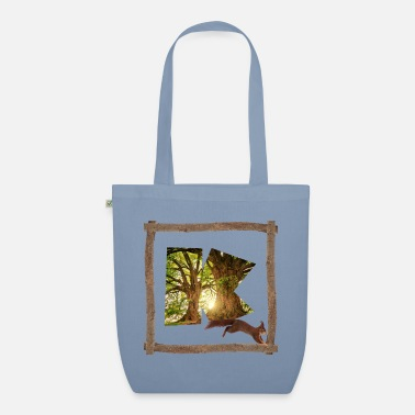 Celtic forest with squirrel k - Organic Tote Bag