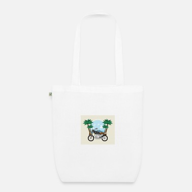 vintage beach motorcycle 2020 - Organic Tote Bag