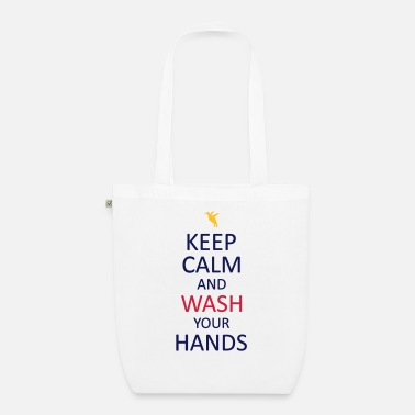 Transformer Keep calm and wash your hands - Organic Tote Bag