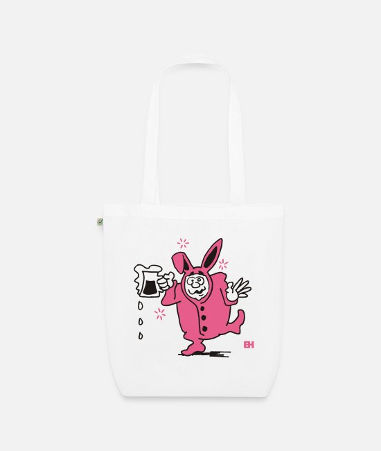 Bachelor Party Bags & Backpacks - Bunny suit - Organic Tote Bag white