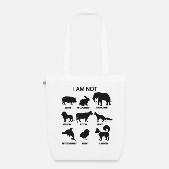 Animal Bags & Backpacks - Animal rights activists - Organic Tote Bag white