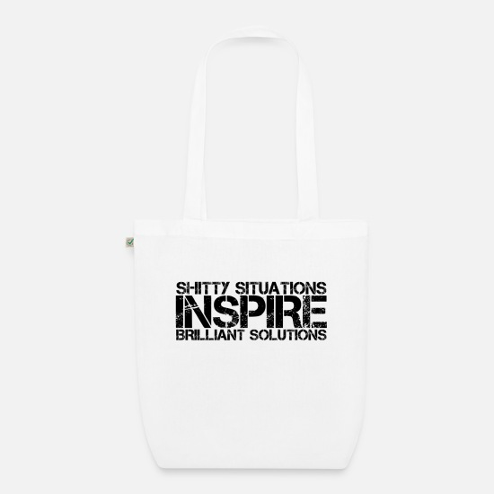 Worry Bags & Backpacks - Difficult situations and brilliant solutions - Organic Tote Bag white