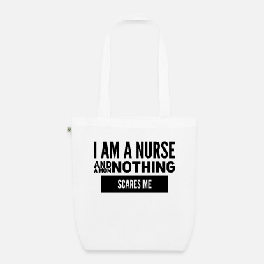 Undaunted I am a nurse - Organic Tote Bag