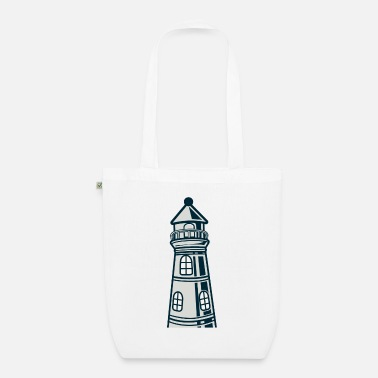 Crook Lighthouse crooked - Organic Tote Bag