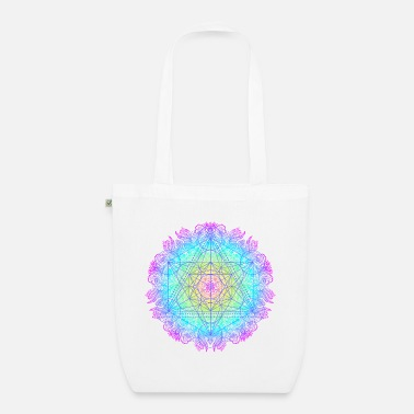 Archangel Metatron cube, sacred geometry of the archangel - Organic Tote Bag