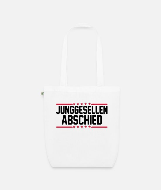 Bachelor Party Bags & Backpacks - Junggesellen Abschied - Organic Tote Bag white