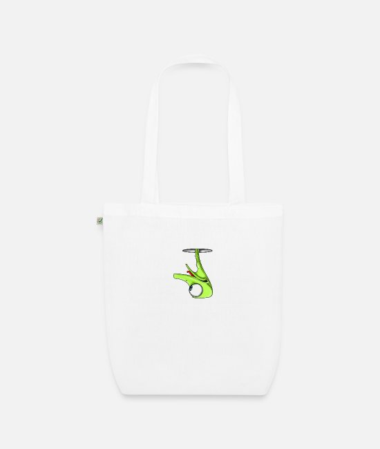 Graphic Art Bags & Backpacks - Funny Green Ostrich - Organic Tote Bag white