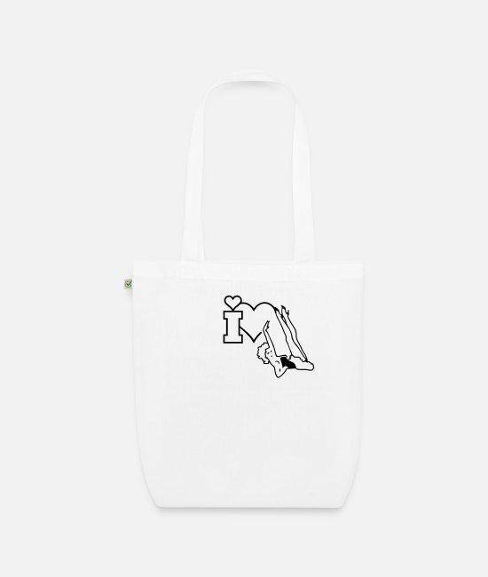 Sexy Bags & Backpacks - Pinup mit sexy Beinen / pinup legs up (1c) - Organic Tote Bag white