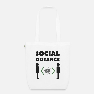 Social Risk Distance1 - Organic Tote Bag
